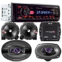 "Radio Pioneer MVH-98UB+2 Vias 6""+Alto Falante 6x9 200w+Módulo Stetsom 400w RMS -"