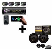 Rádio Pioneer MVHX7000 + Kit 2 Vias Bravox CS60BK - Pioneer/Bravox