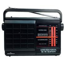 Rádio Portátil 2 Faixas AM/FM com Bluetooth Motobras -
