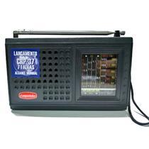 Radio Portátil 7 Faixas Pilha Com Entrada Para Eliminador De Pilha Alcance Mundial - CRP-37 - Companheiro