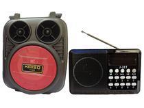 Rádio Portátil Altomex e Caixinha Som Bluetooth Fm Wireless Kit - Kimiso
