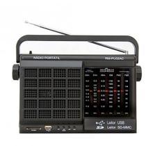 Rádio Portátil AM e FM 6 Faixas Com USB SD Motobras RM-PU32AC -