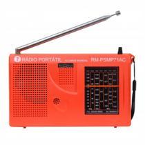 Rádio Portátil AM e FM 7 faixas Laranja Motobras rm-psmp71ac - Motobrás