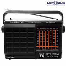Rádio Portátil AM e FM 7 Faixas Motobras RM-PFT73AC -