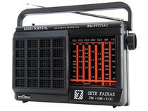 Rádio Portátil AM/FM + 5 Faixas OC 1W RMS - Motobras RM-PFT 71AC