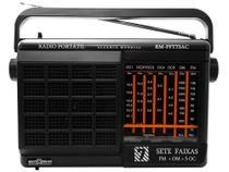 Rádio Portátil AM/FM 7 Faixas RM-PFT 73AC - Motobras -
