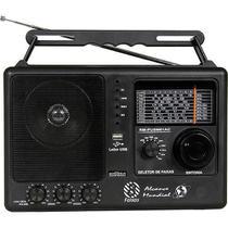 Rádio Portátil AM/FM/OC 8 Faixas Preto USB Motobras RM-PUSM81AC -