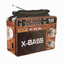 Radio Portatil Am Fm Sw Usb Sd Lanterna X-bass