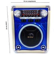 Radio Portátil Bluetooth Lanterna Analógico Usb Mp3 2576 Az - Livstar