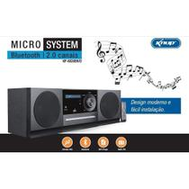 Radio portatil bluetooth usb sd home theater com dvd micro system fm auxiliar p2 equalizador digital - Knup