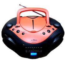Rádio Portátil Boombox CD Player Entrada USB Motobras -