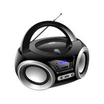 Rádio Portátil Boombox Lenoxx BD 1370 Bluetooth Preto/Prata -