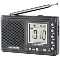 Rádio Portátil com display digital AM/FM - Multi Banda II - Mondial