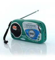 Rádio Portátil de Bolso Am Fm com Relógio a Pilha - Lucky