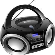 Rádio Portátil Lenoxx Boombox BD1370 Bluetooth Rádio FM e CD Player 5W Preto -