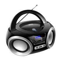 Rádio Portátil Lenoxx FM 5W RMS CD Player Display LED -  Boombox BD 1370 Bluetooth Entrada USB - Preto