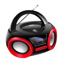 Rádio Portátil Lenoxx FM 5W RMS CD Player Display LED -  Boombox BD 1370 Bluetooth Entrada USB - Preto -