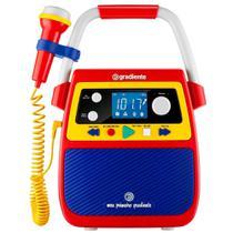 Rádio Portátil Meu Primeiro Gradiente GMP-104, Entradas AUX e para microfone, Rádio FM, Bluetooth e 1,2W RMS - Lenoxx