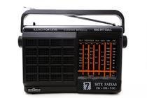 Rádio Portátil Motobrás 7 Faixas AM-FM-OC TV Com Suporte Para Pilhas - Motobras