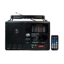 Rádio Portátil Motobras RM-PFT 122/AC 12 Faixas,USB,Bluetooth,Display Digital Controle Remoto Bivolt -