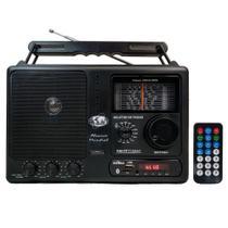 Rádio Portátil Motobras RM-PFT122AC 12 Faixas Bluetooth USB FM/OM Controle Remoto Preto - Bivolt -