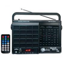 Rádio Portátil Motobrás Rm-Pu32ac 1000w com AM, FM e Bluetooth - Preto - Bivolt - Motobras