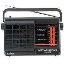 Rádio Portátil Motobrás Rmpft21ac/22Ac 2 Faixas Am/Fm - Preto - Motobras
