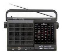 Rádio Portátil Motobras RMPU32AC, AM/FM, USB/SD, Entrada para Fone de Ouvido -
