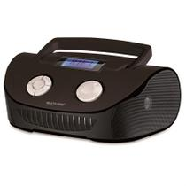 Rádio Portátil Multilaser - MP3, SD, USB, Aux. e FM 15W RMS Preto SP182