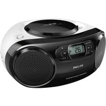 Rádio Portátil Philips AZ330TX/78 CD Player FM Bluetooth USB Aux MP3