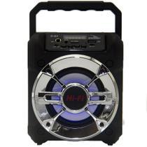 Rádio Portátil Recarregável MP3 / Bluetooth/ USB - Grasep  D - S3 / Preto -