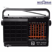 Rádio Portátil Rm-PFT73 Ac, 7 Faixas -MOTOBRAS -