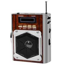 Rádio Portátil Roadstar Classic RS-62RD FM com Lanterna/USB/Leitor de SD - Marrom -