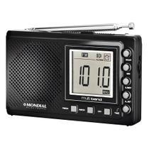 Rádio Portátil RP-03 , Rádio AM/FM, Display Digital, Funções Relógio e Alarme, Saída p/ Fone de Ouvido - Mondial -