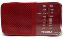 Radio Portatil Toshiba AM-FM TX PR20S Vermelho -