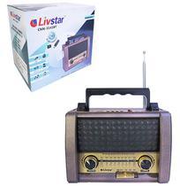 Radio recarregavel 3w bivolt com lanterna bluetooth usb/tf/fm/am/sw - Dynasty
