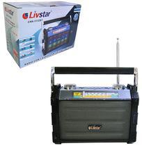 Radio recarregavel 3w bivolt com lanterna e luz colors bluetooth usb/tf/fm/am/sw - Dynasty