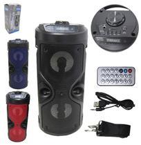 Radio Recarregavel 40w Bivolt com Controle e Luz Bluetooth Usb Fm Tf Colors - Dynasty