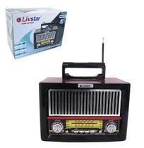 Radio recarregavel 8w bivolt bluetooth /fm/am/usb/sd/auxiliar - Dynasty
