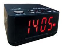 Rádio relógio alarme despertador soneca fm bluetooth le-674 lelong -