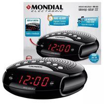 Rádio Relógio Am/fm Mondial Tela Digital Alarme Despertador -