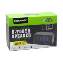 Rádio Relógio Bluetooth Fm Recarregável Ecopower Ep-2353 -