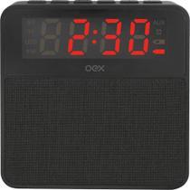 Radio Relógio Bluetooth Wake Preto Cs100 - Oex -