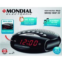 Rádio relógio com despertador AM/FM - Sleep Star III - Mondial -