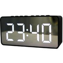 Rádio Relógio com Despertador Espelhado Fm - Import Ts