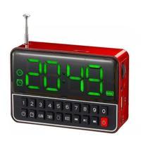 Rádio relógio despertador com mp3 recarregável - Baxiimports