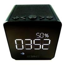 Rádio Relógio Despertador Digital Bluetooth Usb Cartão Sd Fm Le-673 - Lelong