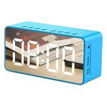 Rádio Relógio Despertador Digital Caixa de Som Bluetooth - Azul - Aec