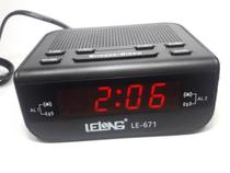 Rádio Relogio Despertador Digital De Mesa Com Rádio Fm/am - Lelong