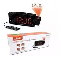 Radio Relógio Despertador Digital Le-672 Fm Usb E Projetor - Gashop